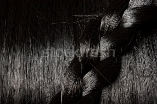 Beautiful black hair with braid Stock photo © Melpomene