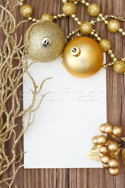 クリスマス 金 木材 背景 フレーム ストックフォト © Melpomene