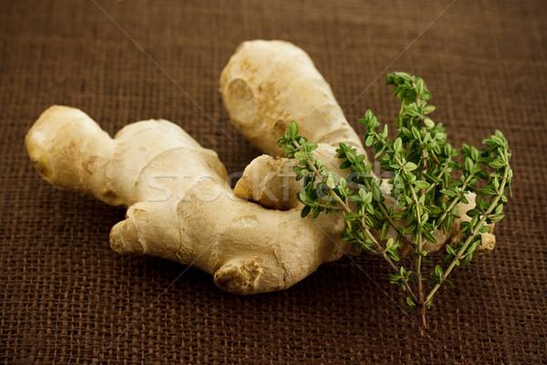 Ginger and thyme Stock photo © Melpomene