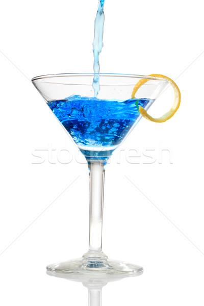 Blue cocktail  Stock photo © Melpomene
