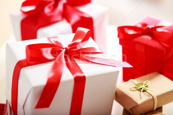 Gift boxes - assorted Stock photo © Melpomene
