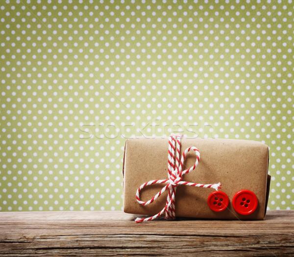Handmade gift box Stock photo © Melpomene