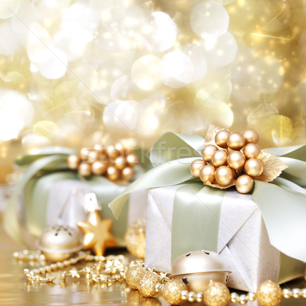 Сток-фото: Рождества · шкатулке · счастливым · фон