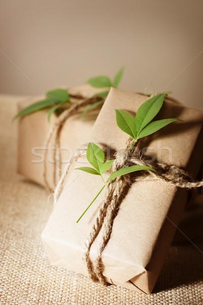 Rustic present boxes Stock photo © Melpomene