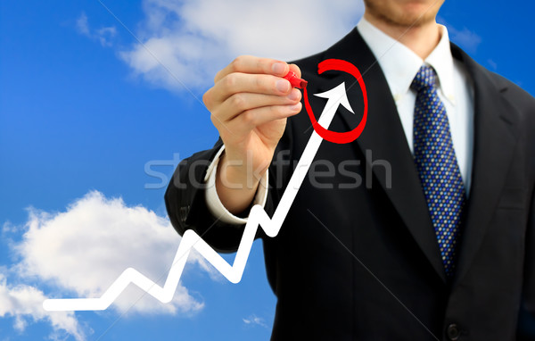 Businessman circling a rising arrow  Stock photo © Melpomene