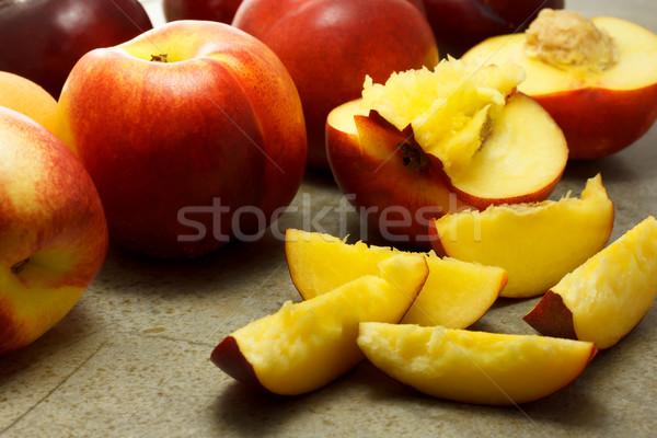érett gyümölcsök szeletek csoport desszert friss Stock fotó © Melpomene