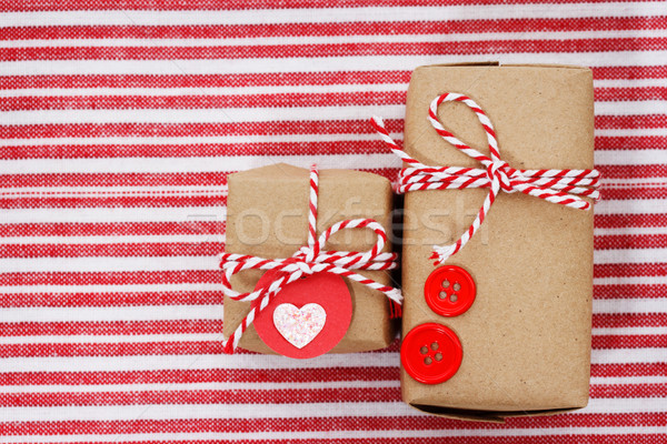 Handmade craft gift boxes Stock photo © Melpomene