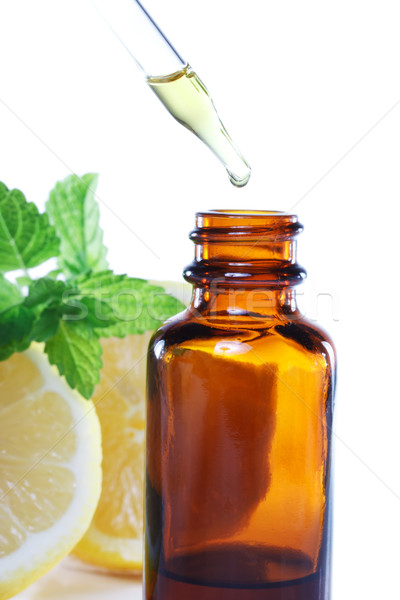 Herbal medicine or aromatherapy dropper bottle Stock photo © Melpomene
