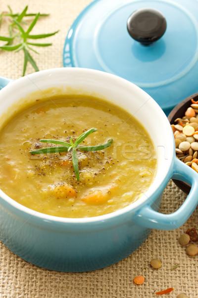 Lencse leves kék edény egészség zöld Stock fotó © Melpomene