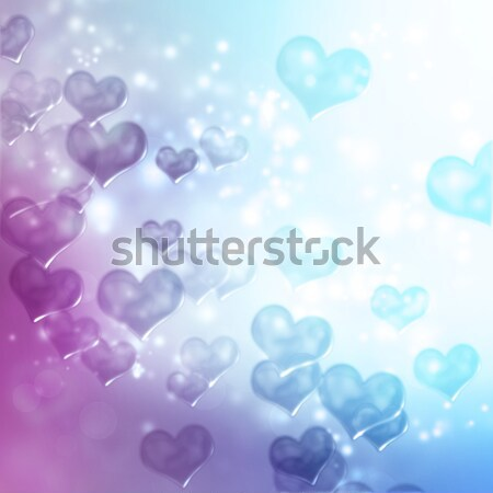 Foto stock: Resumen · corazón · luces · púrpura · rosa · verde