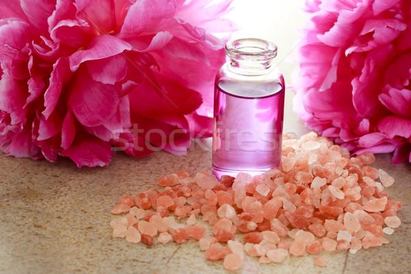 味 油 瓶 粉紅色 花卉 商業照片 © Melpomene