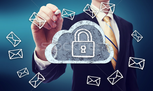 Secured Cloud Computing Stock photo © Melpomene