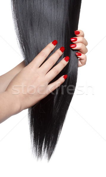 Long straight black hair Stock photo © Melpomene
