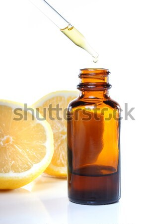 Photo stock: Faible · bouteilles · romarin · feuille · verre
