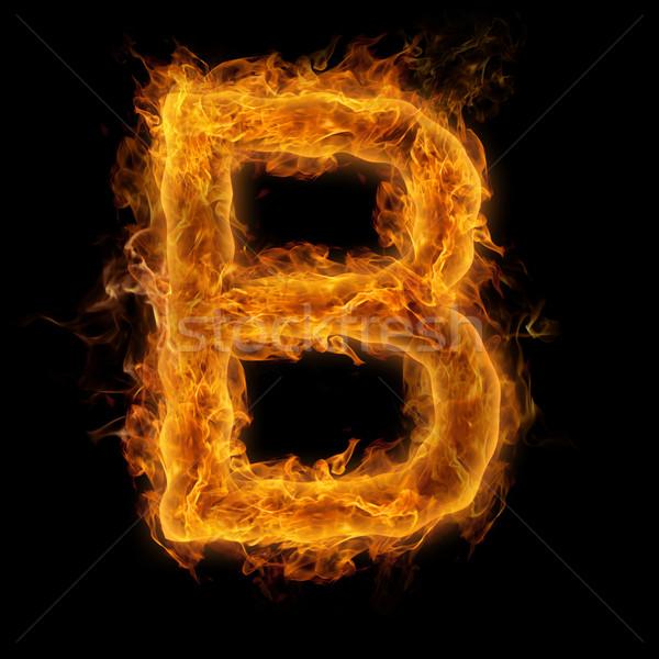 Flaming Letter B Stock photo © Melpomene