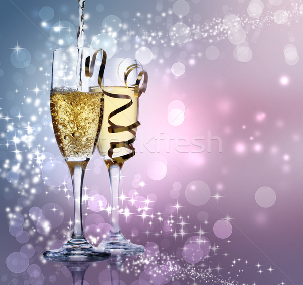 Two champagne glasses Stock photo © Melpomene