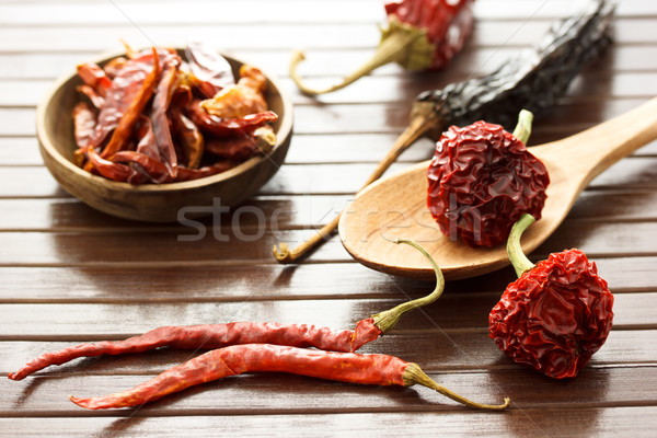 Assortment of chili peppers   Stock photo © Melpomene