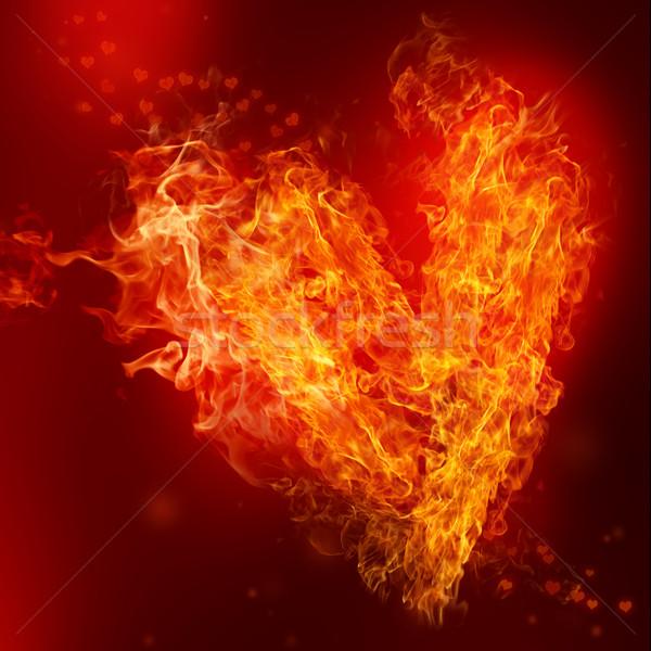 Fire Heart Stock photo © Melpomene