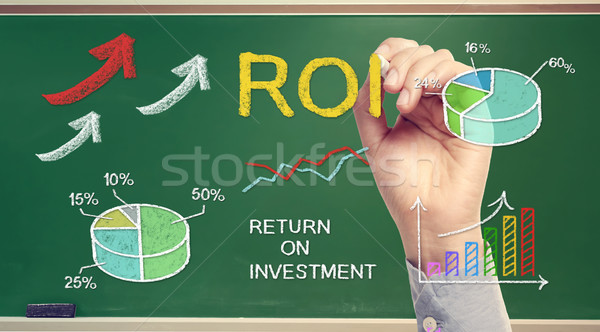 Hand drawing ROI (return on investment)  Stock photo © Melpomene
