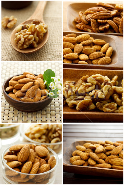Nut Collage Stock photo © Melpomene