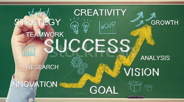 Business success concept on chalkboard Stock photo © Melpomene