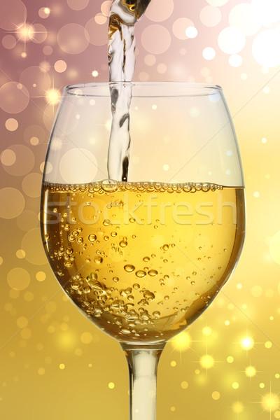 ワイングラス 白ワイン パーティ ワイン デザイン 背景 ストックフォト © Melpomene