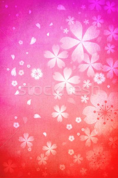 Pembe turuncu renkli çiçek dokular Stok fotoğraf © Melpomene
