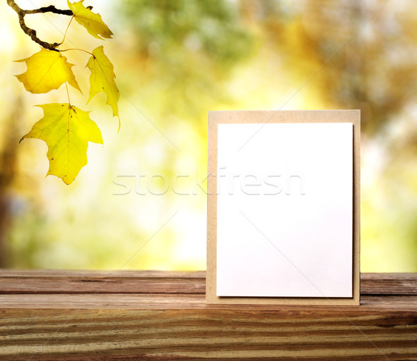 Autumn greeting card Stock photo © Melpomene