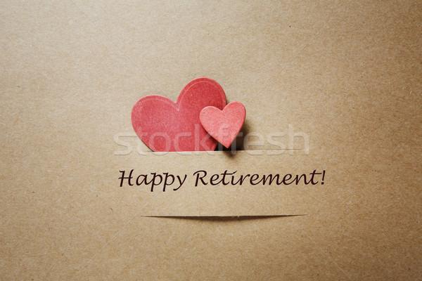 Happy Retirement message with hearts Stock photo © Melpomene