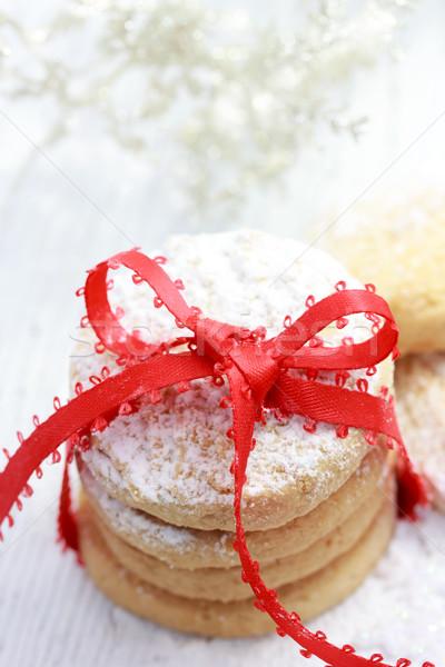 Christmas powdered cookies Stock photo © Melpomene