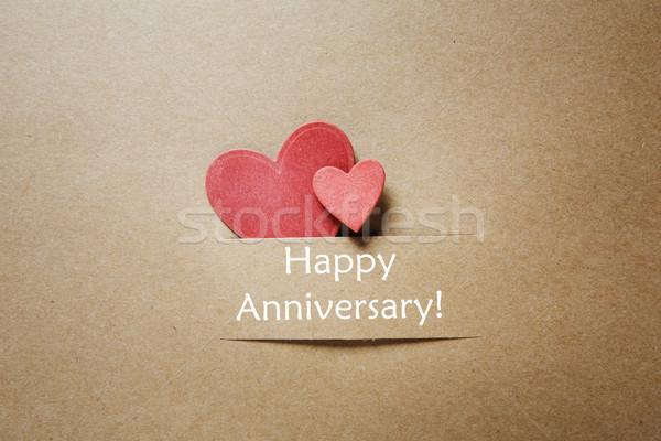 Happy Anniversary message with small hearts Stock photo © Melpomene
