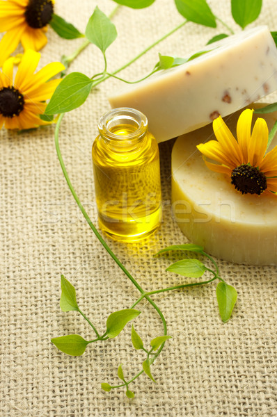 Bars of soap and essential Stock photo © Melpomene