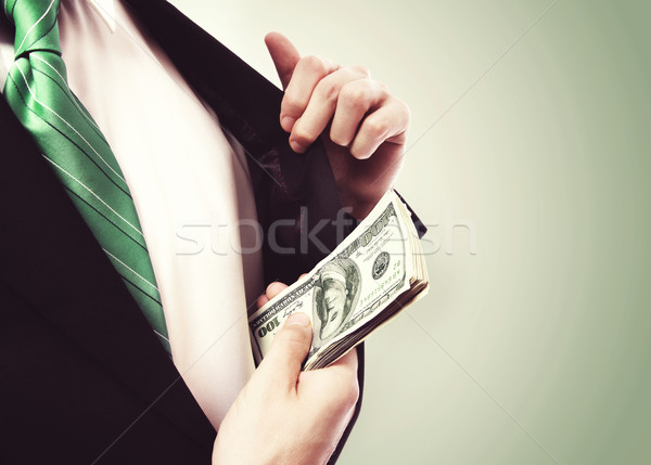 Business Man with Wad of Cash in his Jacket Pocket Stock photo © Melpomene