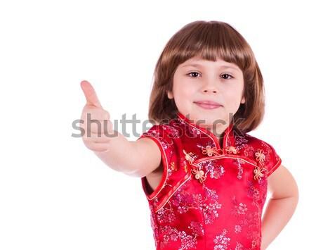 Bastante little girl retrato cara fundo Foto stock © MichaelVorobiev