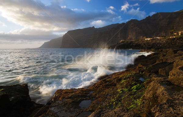 Tenerife oceaan kust groot stad Stockfoto © MichaelVorobiev