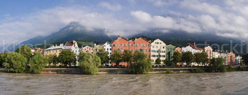 Centro da cidade Áustria viajar montanhas cidade férias Foto stock © MichaelVorobiev