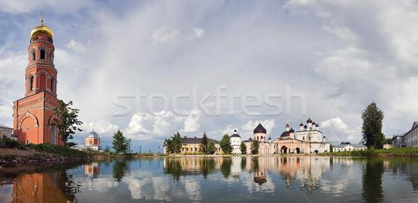 Monastère célèbre orthodoxe panorama eau Photo stock © MichaelVorobiev