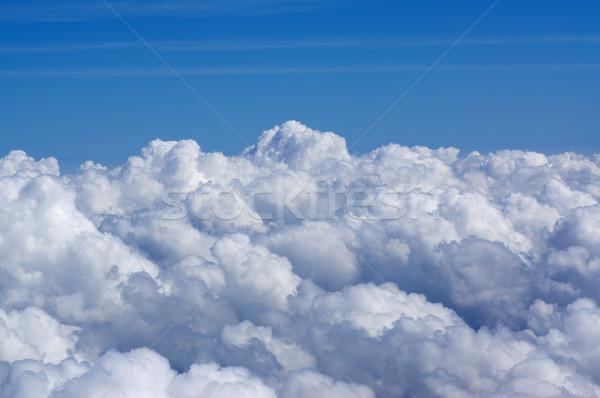Nublado cielo avión vista punto Foto stock © MichaelVorobiev