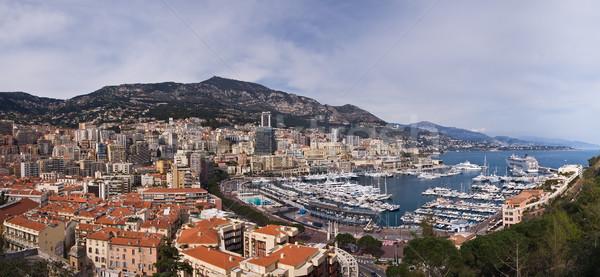 Monaco panoramique vue été ville urbaine Photo stock © MichaelVorobiev