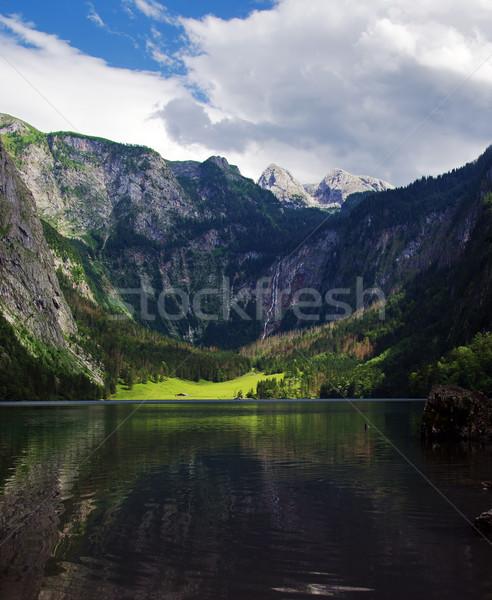 Panorâmico ver lago Alemanha verde montanhas Foto stock © MichaelVorobiev