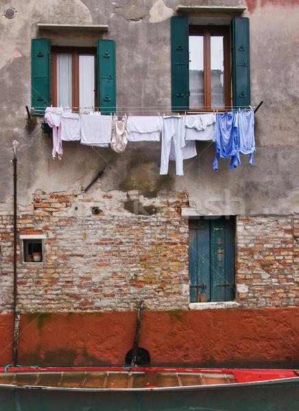 Veneza Itália textura parede retro Foto stock © MichaelVorobiev