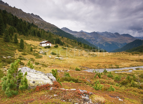Small house in Alps Stock photo © MichaelVorobiev