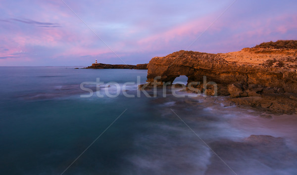 Robe sul da austrália panorama crepúsculo céu Foto stock © MichaelVorobiev