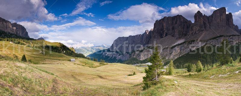 итальянский Альпы Панорама небе горные лет Сток-фото © MichaelVorobiev