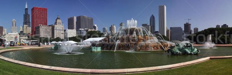 Chicago centre-ville panoramique vue affaires Voyage Photo stock © MichaelVorobiev