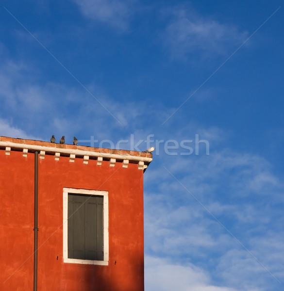 Veneza cores vermelho pintado casa aves Foto stock © MichaelVorobiev
