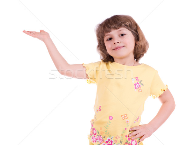 Little girl with one hand outstretched Stock photo © MichaelVorobiev