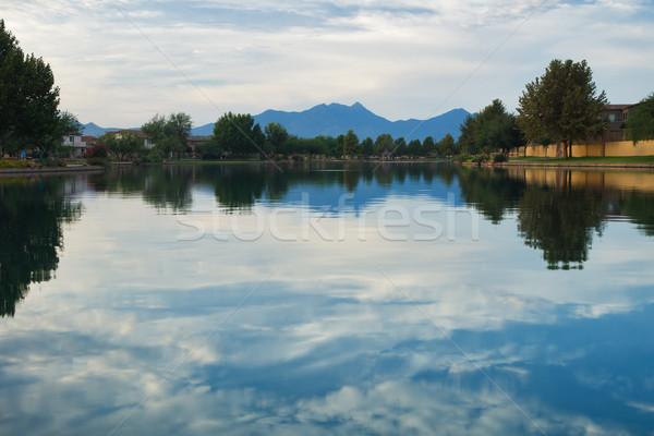 Lago panorâmico ver água reflexão Arizona Foto stock © MichaelVorobiev