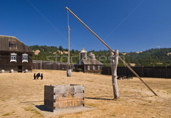 Fort Pasqua muro chiesa castello anello Foto d'archivio © MichaelVorobiev