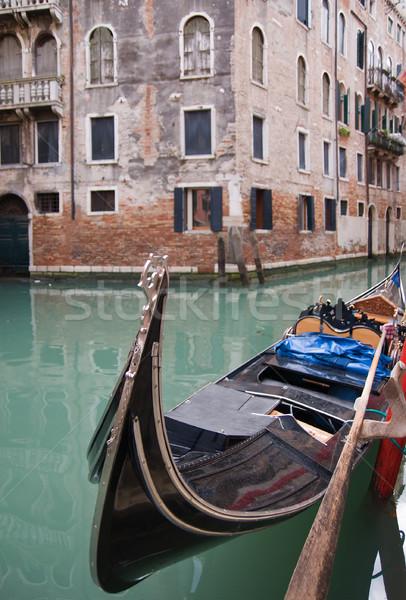Velencei csatorna gondola elöl kilátás víz Stock fotó © MichaelVorobiev